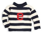 MJK Knits Personalized Infant's, Toddler's & Kid's Striped Cotton Letter Sweater
