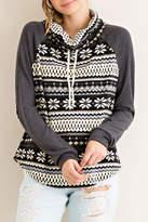 Entro Gray Snowflake Sweater