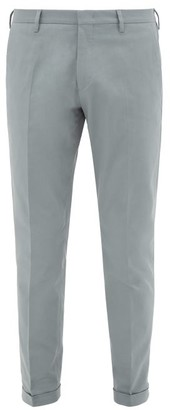 Paul Smith Slim-fit Cotton-blend Twill Chino Trousers - Mens - Light Blue
