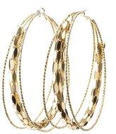 Charlotte Russe Oversize Textured Hoop Earrings