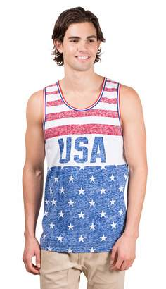 Brooklyn Surf BROOKLYN SURF Men's USA American Flag Jersey Tank Top Sleeveless Tee Shirt Red/White/Blue XX-Large