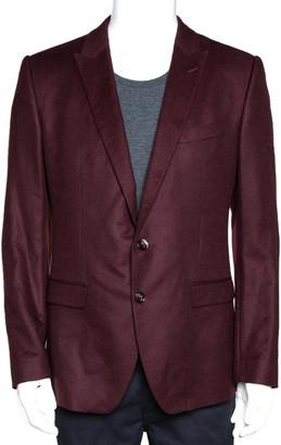 Dolce & Gabbana Burgundy Wool Martini Fit Tailored Jacket IT 48