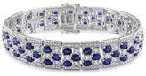 JCPenney FINE JEWELRY Genuine Swiss Blue Topaz and Diamond-Accent Bracelet