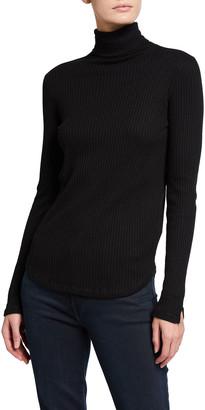 Majestic Filatures Ribbed Long-Sleeve Turtleneck T-Shirt