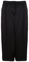 Ghost Ondine Wide Leg Cropped Trousers, Black