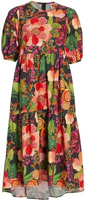 Farm Rio Fruit Floral Midi Dress