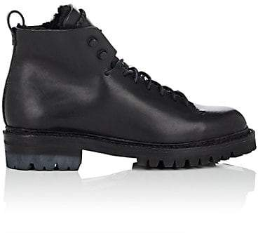 Feit Women's Shearling-Lined Leather Lace-Up Boots - Black