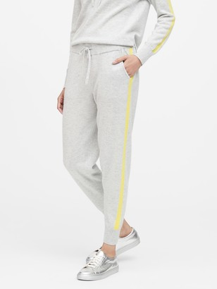 Banana Republic Cashmere Side-Stripe Joggers