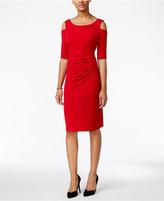 Connected Cold-Shoulder Sheath Dress