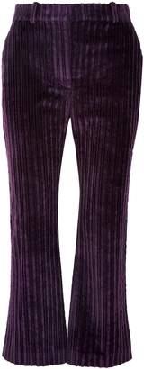 Altuzarra Adler Cropped Cotton-corduroy Flared Pants