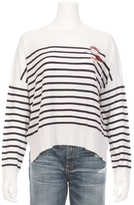 Sundry Striped Crew Patch Sweater