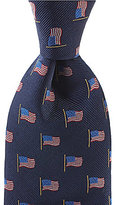 Roundtree & Yorke Trademark American Flag Neat Traditional Silk Tie