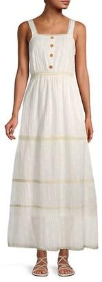 Lucca Lace-Trim Maxi Dress