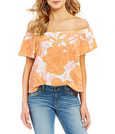 GUESS Amore Off-The-Shoulder Printed Top
