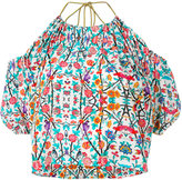 Miahatami - floral halter-neck blouse - women - Silk - 40