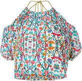 Miahatami floral halter-neck blouse