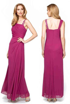 Alex Evenings 132755 Asymmetrical Side Draped Evening Dress