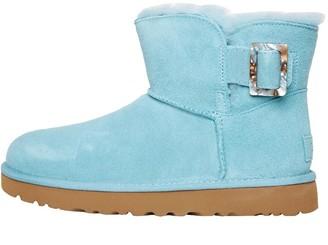 UGG Womens Mini Bailey Fashion Buckle Boots Blue Crush