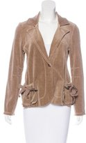 Sonia Rykiel Long Sleeve Velour Blazer