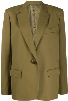 ATTICO Plain Single Breasted Blazer