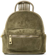 Street Level Olive Corduroy Mini Backpack