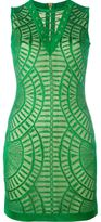 Balmain lace detail fitted dress