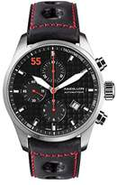 Raidillon Casual Friday Men's Automatic Watch with Black Dial Chronograph Display and Black Leather Strap 42-C10-147