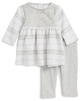 Nordstrom Infant Girl's Fair Isle Knit Dress & Leggings Set
