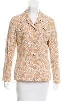 Escada Snakeskin Print Button-Up Jacket