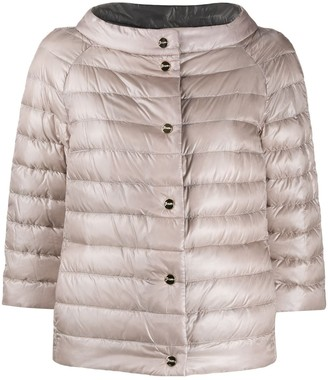 Herno Funnel-Neck Reversible Quilted-Down Jacket