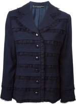 Jean Louis Scherrer Pre Owned lace panel jacket