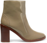 Zimmermann Paneled patent-leather ankle boots