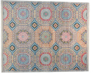 F.J. Kashanian 9'x12' Sari Mamluk Rug - Silver Blue