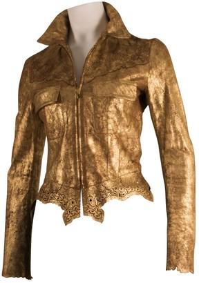 Julien Macdonald Julien Mac Donald Gold Leather Jacket for Women
