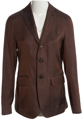 DSQUARED2 Brown Silk Jackets