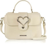 Love Moschino Eco Leather Satchel Bag w/Heart Buckle