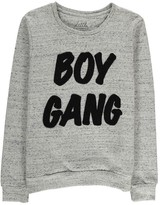 Little Eleven Paris Gang Boy Embroidered Sweatshirt