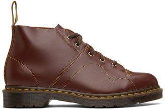 Dr. Martens Burgundy Vintage Church Monkey Boots
