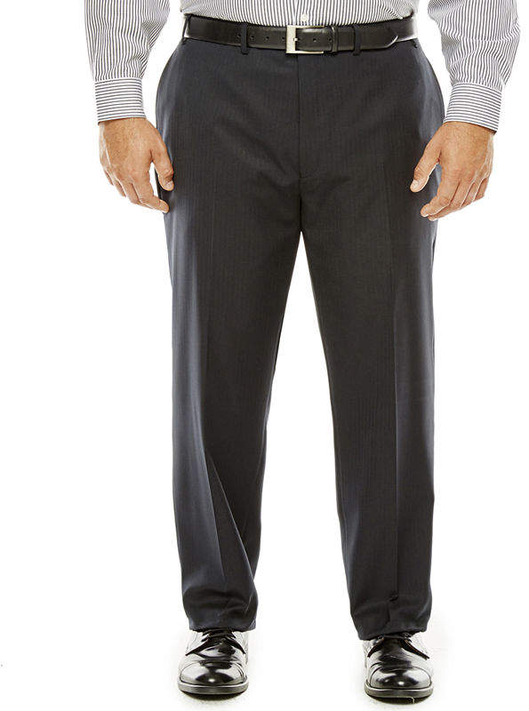 73f5cc8e COLLECTION Collection by Michael Strahan Black Herringbone Suit Pants - Big  & Tall