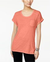 Style&Co. Style & Co Burnout T-Shirt, Only at Macy's