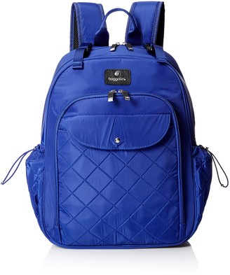 BG by Baggallini Women's Run Diaper Bag Backpack with Baby Stroller Straps