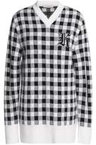 Christopher Kane Appliquéd Gingham Wool And Cashmere-Blend Sweater