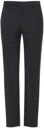 Saint Laurent Pinstripe Mohair & Wool Pants