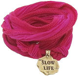 Catherine Michiels Slow Life Bronze Charm & Silk Bracelet Wrap