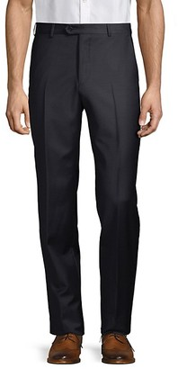 Armani Collezioni Solid Virgin Wool Trousers