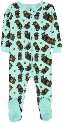 Leveret Aqua UPS Footed Sleeper Pajama