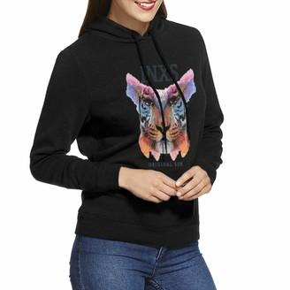 Sydiyiwl INXS Original Sin Women's Hoodies Pullover Sweatshirt Long Sleeve for Ladies Teens M Black