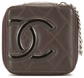 Chanel Pre Owned 2006s cambon line quilted CC logo mini multi pouch