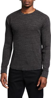 Vince Men's Crewneck Long-Sleeve Stretch Cotton T-Shirt