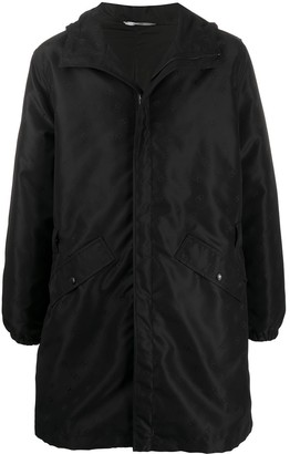 Valentino Buckle-Detail Mid-Length Parka